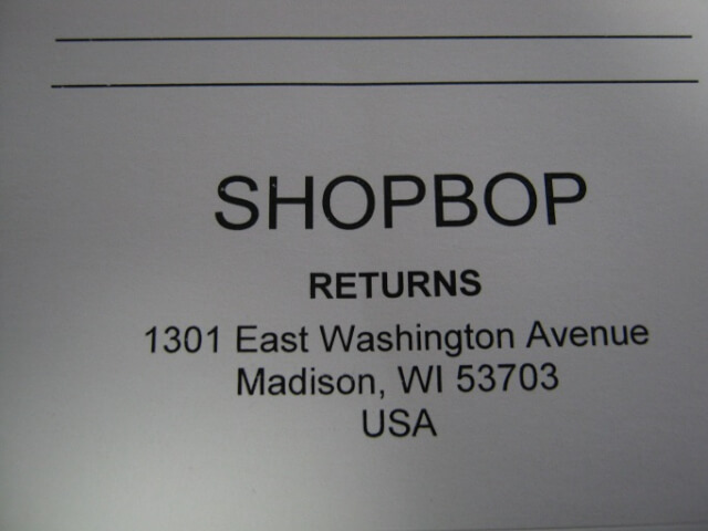 shopbop return 19 - SHOPBOP(ショップボップ)クーポン&キャンペーンコード 口コミ情報と日本語での買い方、購入方法・個人輸入海外通販SHOPBOP買い物ガイド2018