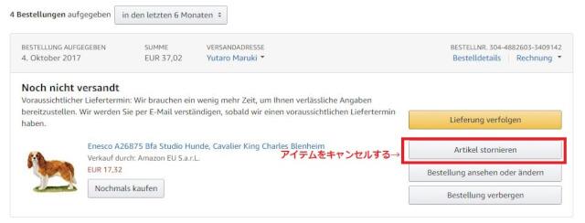 キャンセル4 - Amazon.de(アマゾンドイツ)の購入方法紹介!割引クーポン&キャンペーンコード&セールの買い方、登録方法・個人輸入買い物 ドイツアマゾン購入完全ガイド2018