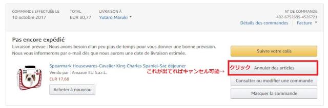 FRキャンセル 1 - Amazon.fr(アマゾンフランス)の購入方法紹介!割引クーポン&キャンペーンコード&セールの買い方、登録方法・個人輸入買い物Amazon.fr(アマゾンフランス)購入完全ガイド2020