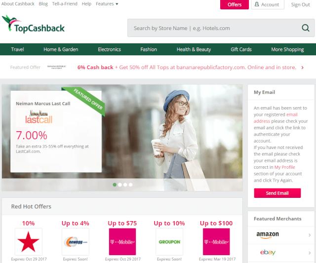 topcashback - 海外通販でキャッシュバックがもらえるのは?3大サイトを紹介!TopCashbackやEbatesのキャンペーン情報も