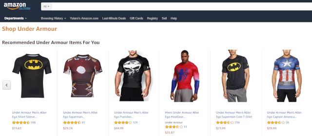 アマゾンアメリカでアンダーアーマー(Under Armour)スーパーマンのコンプレッションシャツを個人輸入 日本未発売商品をAmazon.com(アマゾンUSA)で