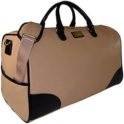 Nicole Miller Sharon City Duffel Bags Cream - 【小旅行に最適】女性のための1~2泊用 旅行バッグおすすめ人気ランキング11選!