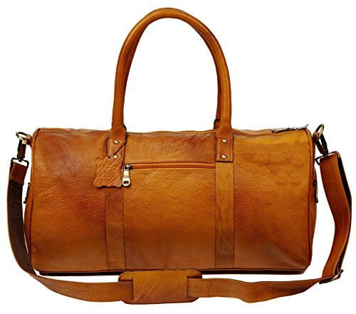 ZipperNext 20 inch Leather Duffel Bag Travel Sports Gym Overnight Weekend Bag - 【小旅行に最適】女性のための1~2泊用 旅行バッグおすすめ人気ランキング11選!