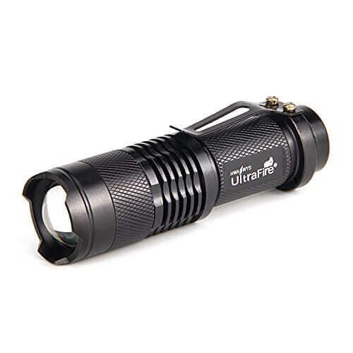4. UltraFire 7w 300lm Mini Cree LED Flashlight - 【持ち運びに便利】ハンディライトおすすめ人気ランキング9選!