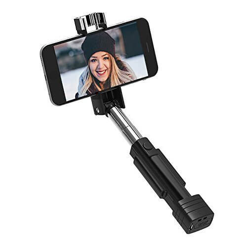 Bluetooth Selfie Stick atongm Mini Cell Phone Selfie Sticks Extendable All in One iPhoneAndroid for iPhone 77 plus6s 6s plus ect Black 1 - 【写真をもっと撮りやすく!!】自撮り棒おすすめ人気ランキング9選!