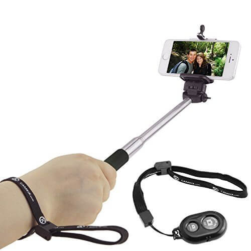 Selfie Stick with Bluetooth Remote for Smartphones With Universal Phone Holder up to 3.25 Inch in Width Adjustable Handheld Monopod 11 1 - 【写真をもっと撮りやすく!!】自撮り棒おすすめ人気ランキング9選!