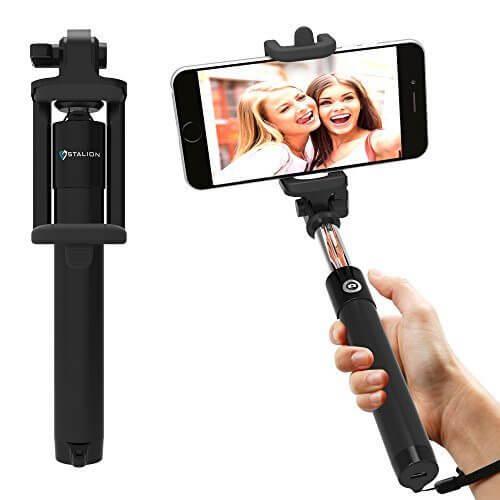 Stalion Pocket Size Bluetooth Selfie Stick for Smartphones Jet Black - 【写真をもっと撮りやすく!!】自撮り棒おすすめ人気ランキング9選!